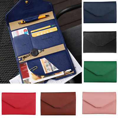 Neutral Multi-purpose Travel Passport Wallet Tri-fold Document Organizer Holder