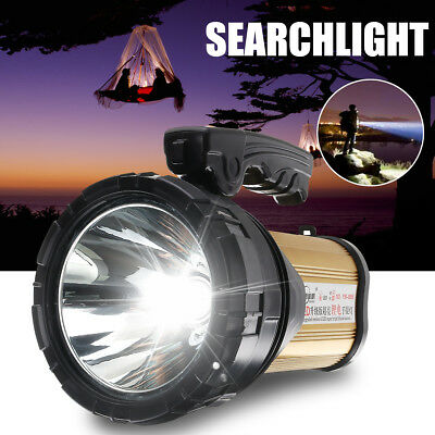 Bright Searchlight Handheld Portable Spotlight LED Rechargeable Flashlight USB
