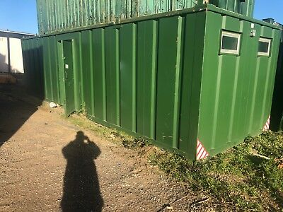 40 x 8 Secure Steel Container / Cabin - Drying Room With Office Unit
