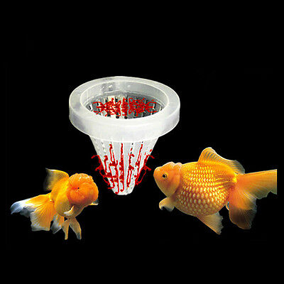 Aquarium Basket Feeder Fish Food Live Worm Bloodworm Cone Feed T Kh