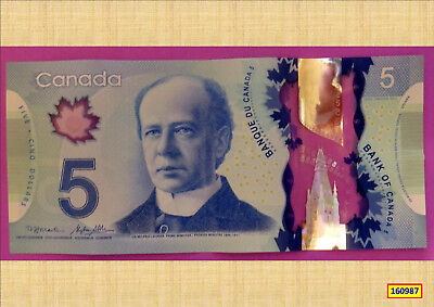 Canadian 2013 Polymer $5 Banknote Aunc 160987