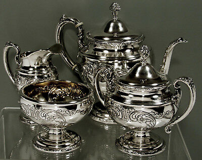 Towle Sterling Silver Tea Set    c1950 OLD MASTER  -   61 OUNCES