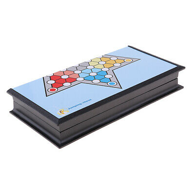 Chinese Checkers Family Board Game Foldable Chessboard and 18 Chess Pieces