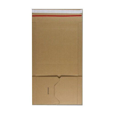 100 A5 Manilla Book Wrap Mailing Envelopes E Flute 217mm x 155mm x 60mm 400gsm