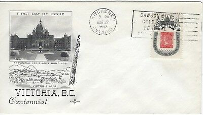 CANADA - #399 - 5c VICTORIA CENTENARY ROSECRAFT FIRST DAY COVER (1962) FDC