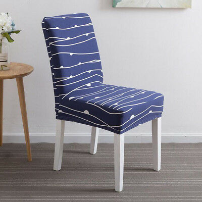 Economic Printed Stretch Chairs Seat Cover Siamese Upholstery Home Decor 8C