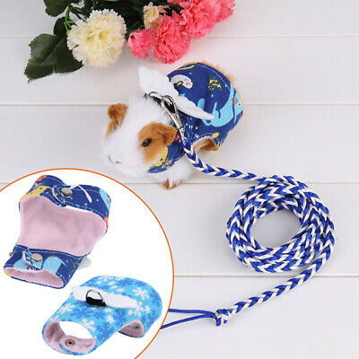 Small Pet Harness Guinea Pig Forret Hamster Rabbit Squirre Vest Clothes Lead