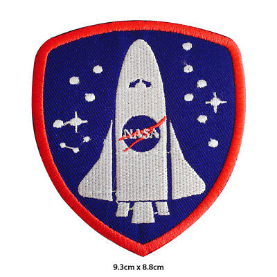 NASA USA Space Ship Embroidered Patch Iron on Sew On Badge For Clothes Bags etc