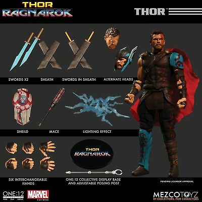 Mezco Toys One:12 Collective Marvel Thor Ragnarok Thor 1/12 Scale Action Figure