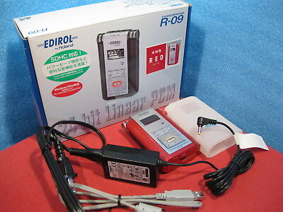 Roland R-09 RED 24-bit Wave/MP3 Digital Audio Recorder w/ 256MB, power ~240V