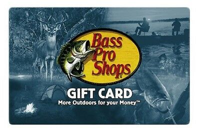 Bass Pro Shops Gift Card -$25 $50 or $100 -- Free Shipping