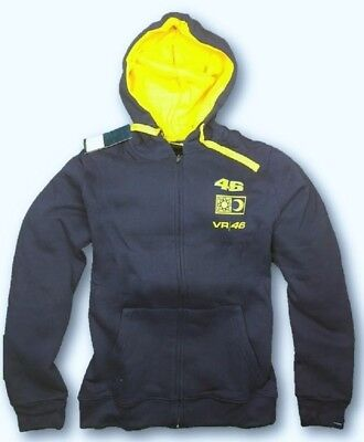 SWEATSHIRT Adult Hoody Bike MotoGP Rossi VR 46  NEW! Hoodie Sun Moon Navy S