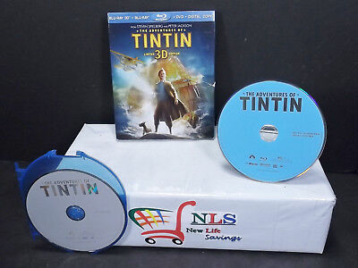 The Adventures of Tintin DVD & Blu-ray DISC & Slipcover ONLY SEE AD