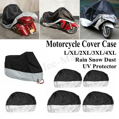 L-XXXL Motorcycle Cover Waterproof Bike Outdoor Rain Dust UV Protector Scooter