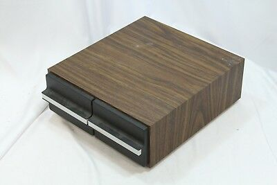 24 Cassette Storage Cabinet Case Faux Wood 2 Drawer F