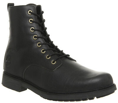 Mens Timberland Lux Lace Up Boots Black Leather Boots