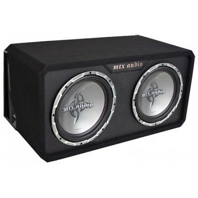 """MTX Thunder Round Dual 12"""" TR45 Enclosure and Subwoofers - 2 Ohm"""