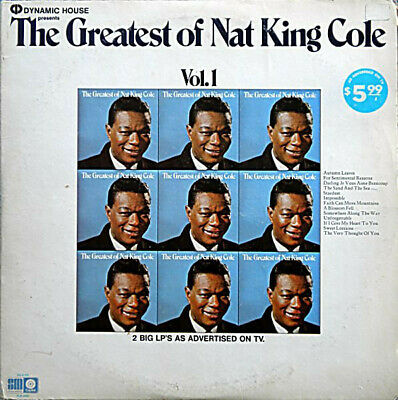 1972 EXC RARE Nat King Cole The Greatest Of Nat King Cole  SLB-6803  LP33