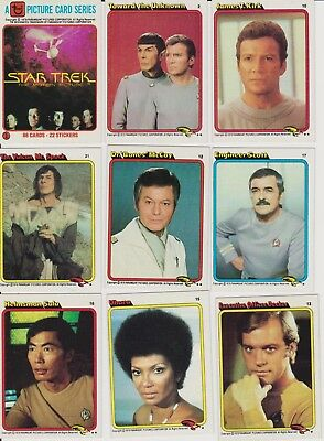 Partial Set of 1979 Topps Star Trek Cards-84 of 88 Card Set!-Shatner-Nimoy-!