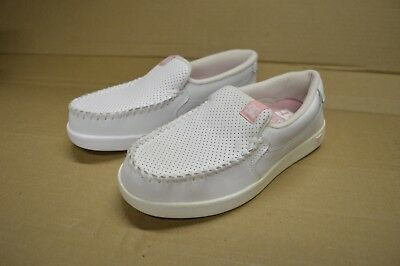 6d600d7d3706 DC Shoes Women's Villain White Leather Slip On Display Models New/Defects