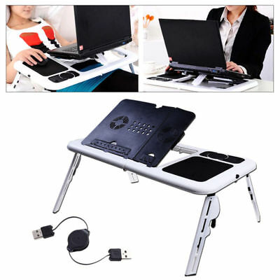 Adjustable Portable Folding Table Bed Desk Stand For Computer Laptop Notebook PC