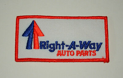 Right-A-Way Auto Parts Right A WayNew NOS Cloth Patch 1980s