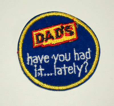 Vintage Rare Dad's Root Beer Soda Hat Jacket Patch New NOS 1970s