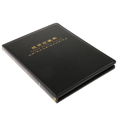 Paper Money Supplies Stamp Notes Album Book 60 Pockets for Collectors Black