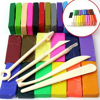 AU_ Kid Educational Toy Modeling 32 Colors Oven Bake Polymer Clay Block Set HOT