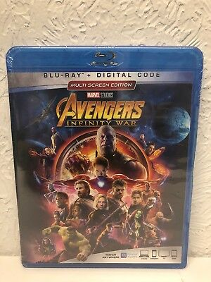 Avengers Infinity War Blu Ray + Digital HD, Brand New Sealed!!