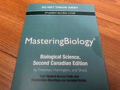 MasteringBiology Access Code for Biological Science, Second Canadian Edition