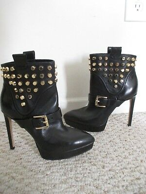 078b5f7b8cdb MICHAEL MICHAEL KORS Bryn Studded Leather Black Ankle Boots - Size 6 ...