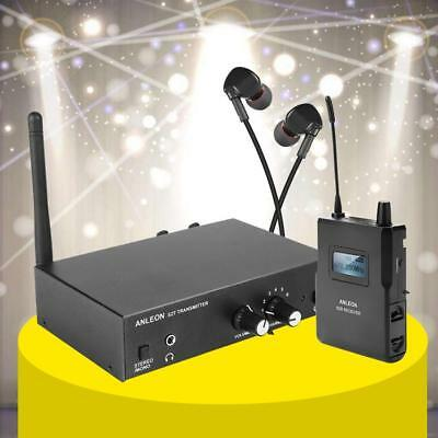 6 CH In-ear UHF Stereo Monitor System Headphones Adjustable Digital 670 - 680Mhz