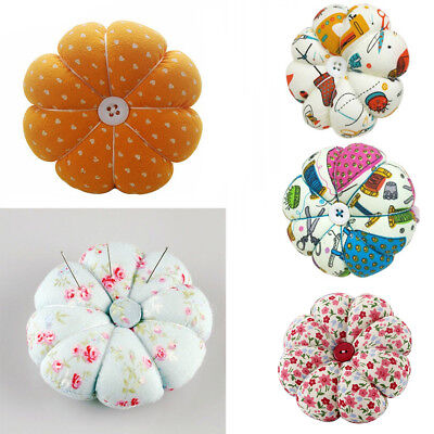 AU_ Pumpkin Needle Sewing Pin Cushion Tool Button Storage Holder Crafts Solid