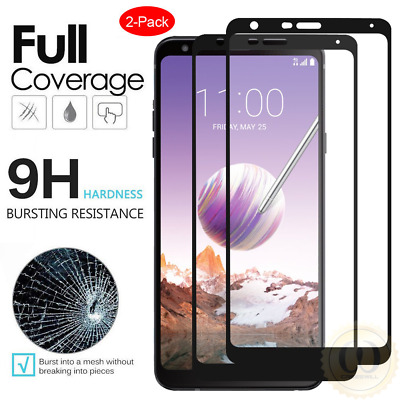 For LG Stylo 4 / Stylo 4 Plus FULL COVER Tempered Glass Screen Protector [2 PCS]