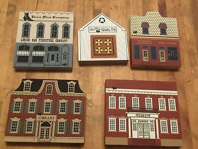 Cats' Meow  - Lot of 5 -Library, Museum, Quilts, Amish Furniture, Post Office