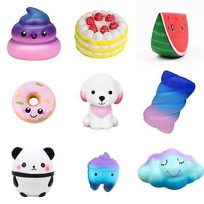 AU_ Jumbo Slow Rising Squishies Squishy Squeeze Kids Adults Toy Stress Relief Bl