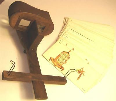 RARE MODEL 37 KEYSTONE EYE-COMFORT STEREOSCOPE w/ TRAINING CHARTS - EXC.
