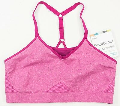 4d2001e8be239 Women s Smartwool size SMALL S Pink Merino Seamless Strappy Adjustable Bra  NWT