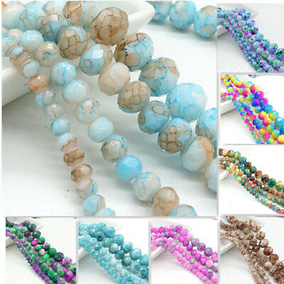 Wholesale Rondelle Faceted Crystal Glass Loose Spacer Beads 4mm6mm8mm10mm