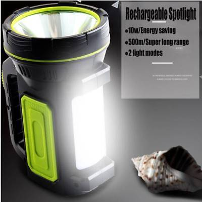 Rechargeable Dual LED Work Light Torch Candle Power Spotlight Hand Lamp New