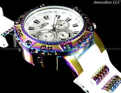 NEW Invicta Men's 50mm Chronograph Speedway Iridescent Stainless Steel Watch !!