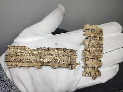Amazing rare Coptic Egyptian papyrus Lot of 2 in Greek and Latin