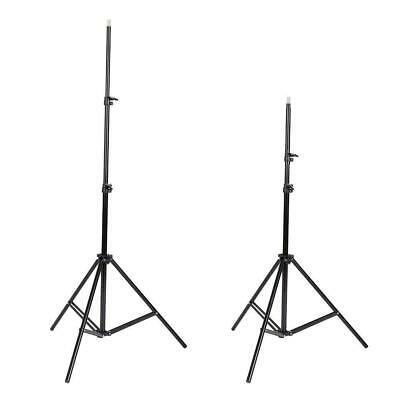 2x 7ft Photography Light Stand Tripod for Photo Studio Lighting Black