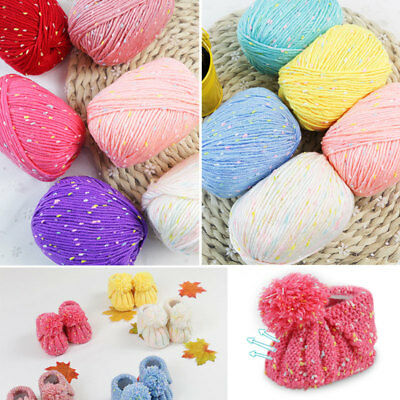 50g Soft Baby Knitting wool Natural Crochet  Silk Point Cotton Hand Yarn 20Color
