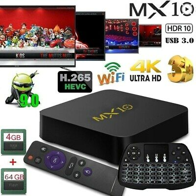 MX10 RK3328 ✅Quad-Core ✅Android9.0 ✅4K✅SMART TV BOX 4G+64GB ✅Tastiera
