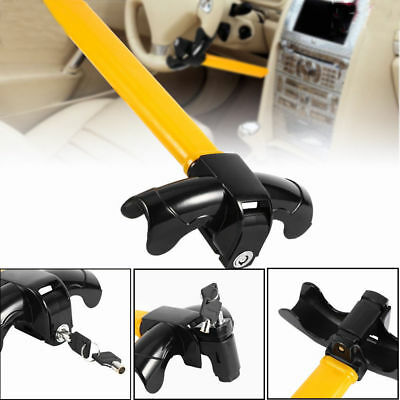 Aluminum Rotary Steering Wheel Lock Anti-Theft Security W/ 2Key For SUV Auto Car