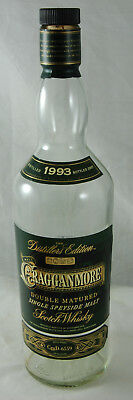 Empty Collectable Malt Whisky Bottle - Cragganmore Distillers Edition 70cl