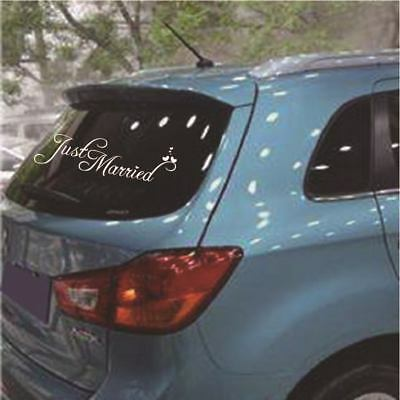 New Hot Just Married Wedding Car Cling Decal Sticker Window Banner Decor #AM8