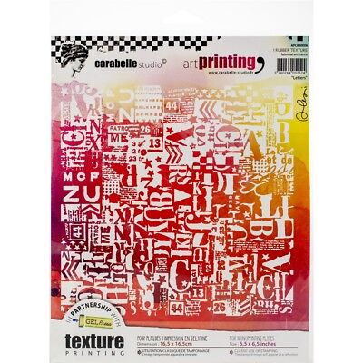 Carabelle Studio Art Printing Square Rubber Texture Plate-letters